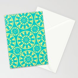 Mosaic Flower Stationery Cards