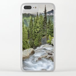 Top of Myrtle Falls Clear iPhone Case