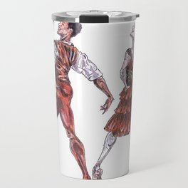 Marianela Nunez and Carlos Acosta as Kitri and Basil, act 1 Travel Mug