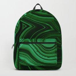 GREEN MALACHITE STONE PATTERN Backpack