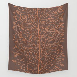 Branches and Buds in Warmth Wall Tapestry