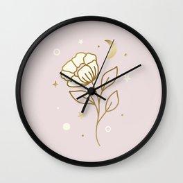MAGICAL FLOWER - mystic illustartion Wall Clock