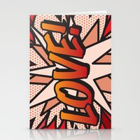 comic book Stationery Cards featuring Comic Book LOVE! by The Image Zone