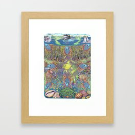 Pavonian nets of the dream, or bodyguards of the miracle Framed Art Print