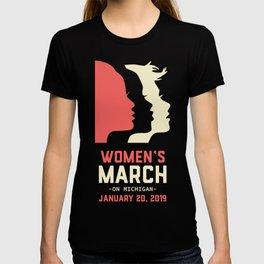 Women's March On Michigan January 20, 2019 T-shirt