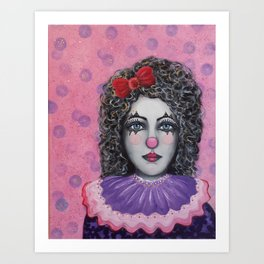 Sad Eyes Clown Art Print