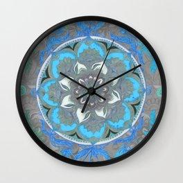 Mint Green, Blue & Aqua Super Boho Medallions Wall Clock