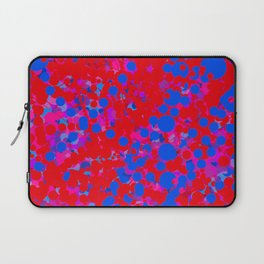 blue on red, circles Laptop Sleeve