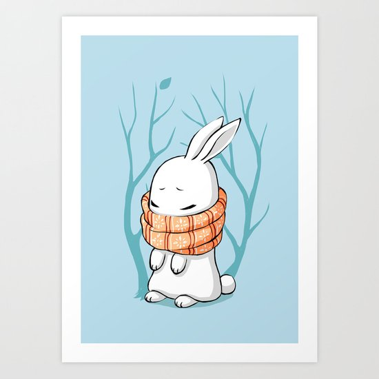 Winter Bunny Art Print