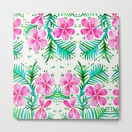 Orchid Bunch – Fuchsia & Green Palette Metal Print