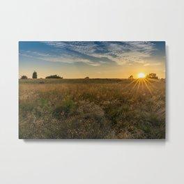 Sunset on the Heath Metal Print