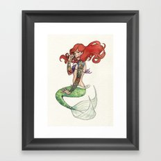 Daddy's Rebel Princess Pin-Up Framed Art Print
