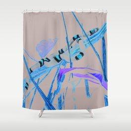 snake, harlequin coral Shower Curtain
