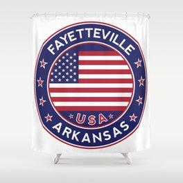 Fayetteville, Arkansas Shower Curtain