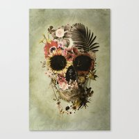 garden Canvas Prints featuring Garden Skull Light by Ali GULEC