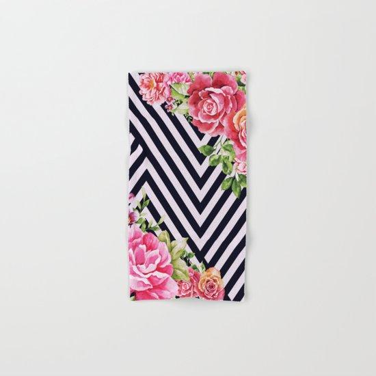 flowers geometric Hand & Bath Towel