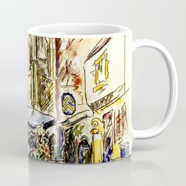"""Paul Signac """"Tréguier, le marché"""" Coffee Mug"""