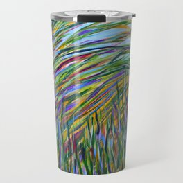 Tropical Green Abstract, Seagrass Color Study, Contemporary Colorful Home Decor Travel Mug