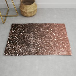 Rose Gold Glitter #1 #sparkling #decor #art #society6 Rug