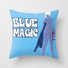 Guns N' Honey : Blue Magic Throw Pillow