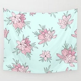 Pink Fields Pattern Wall Tapestry