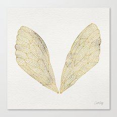 Cicada Wings in Gold Canvas Print