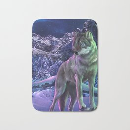 The Way of the Wolf Bath Mat