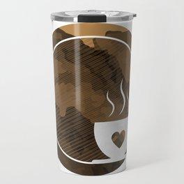 Coffee brings the passion - I love Coffee Travel Mug