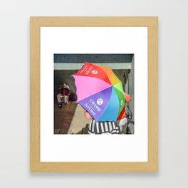 le parapluie et l'accordéon Framed Art Print