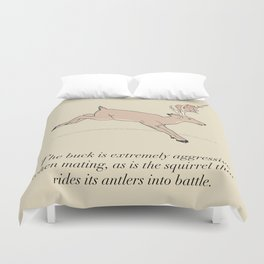 The Buck And The Squirrel Duvet Cover