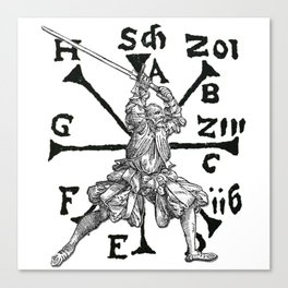 VomTag. Medieval Renaissance Swordsman Canvas Print