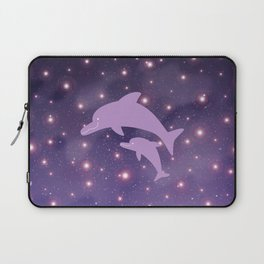Parent-child of dolphin in Universe _03 Laptop Sleeve