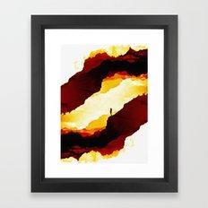 Red Isolation Framed Art Print