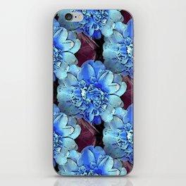 Blue Camelias iPhone Skin