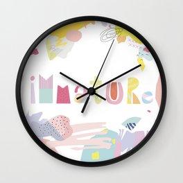 Immature Wall Clock