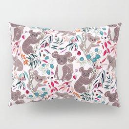 Cute Vintage Pink Cuddly Koalas Pillow Sham