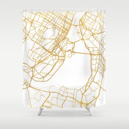 MONTREAL CANADA CITY STREET MAP ART Shower Curtain