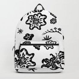 Graphic Flowers Backpack