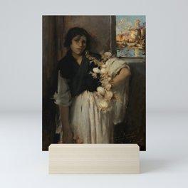 """John Singer Sargent """"Venetian Onion Seller"""" Mini Art Print"""