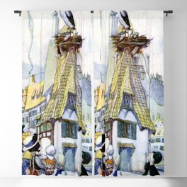 """""""The Storks"""" Fairy Art by Anne Anderson Blackout Curtain"""