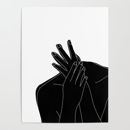 Black and white figure - Emmy Poster