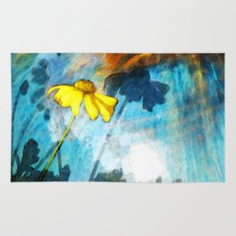 In My Shadow - Yellow Daisy Art Painting Rug