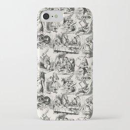 Alice in Wonderland | Toile de Jouy Pattern | Black | Beige | Vintage Pattern | Victorian Gothic | iPhone Case