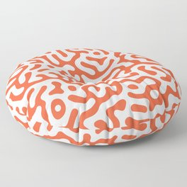 Orange Turing Pattern Floor Pillow