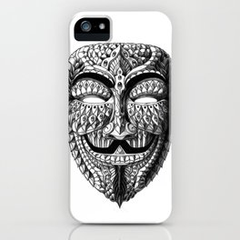 Ornate Anonymous Mask iPhone Case