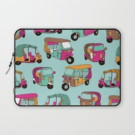 India rickshaw illustration pattern Laptop Sleeve