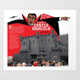 Castle Dracula Brochure Cover. Wildwood, New Jersey Art Print