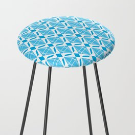 Abstract [BLUE] Emeralds Counter Stool