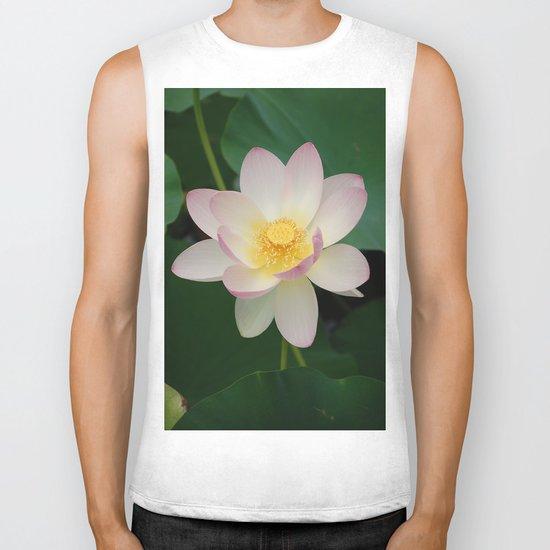 Lotus Blossom in Full Bloom Biker Tank