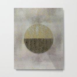 Glamorous Golden Circle Sparkling Elegance Metal Print